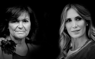 Carmen Calvo y Cristina Sánchez, mano a mano en Cajasol