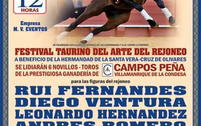 Festival de rejones en Olivares el 4 de febrero