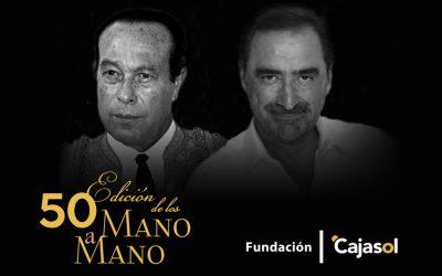 Curro Romero y Carlos Herrera, en el 50 mano a mano de Cajasol
