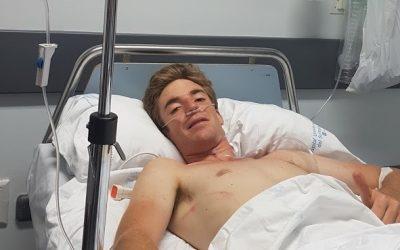 Daniel de la Fuente, con fractura costal y neumotórax tras ser cogido en Arganda