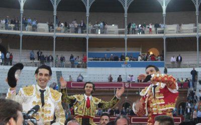 Morante, Manzanares y Talavante, a hombros en Granada