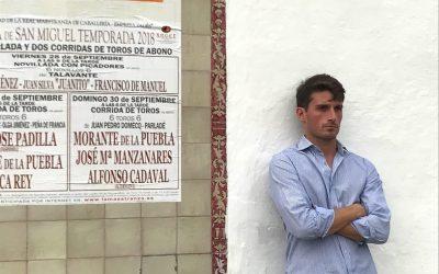 """Alfonso Cadaval: """"Debo ganarme el futuro en la tarde de la alternativa"""""""