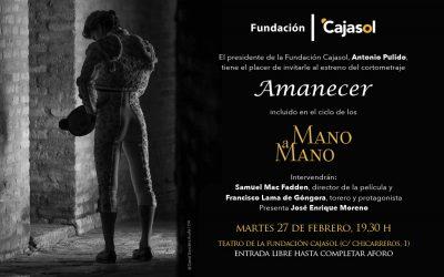 Estreno mundial del cortometraje 'Amanecer' en Cajasol