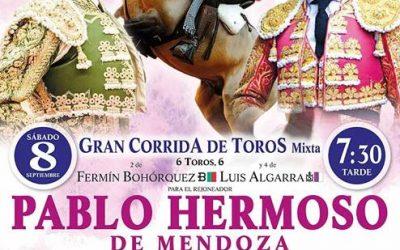 Hermoso, Cayetano y Aguado, el 8 de septiembre en Utrera